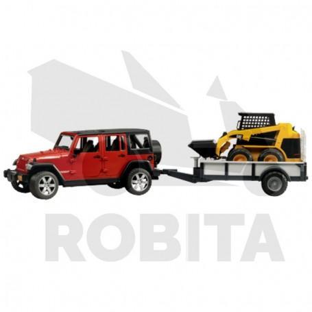Jeep Wrangler Unlimited Rubicon + Utánfutó + CAT
